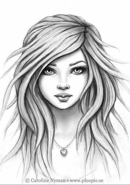 drawings of girls - 800×800