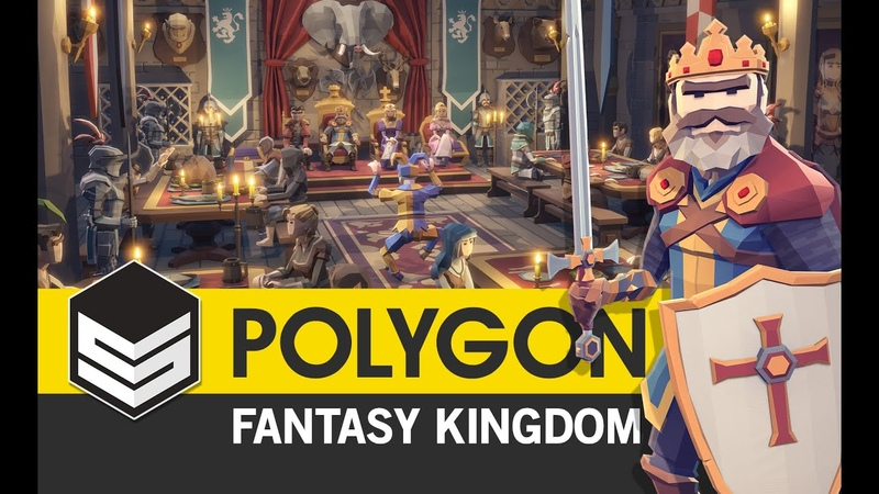 Polygon Fantasy Kingdom Pack Trailer 3D Low Poly Art for Games by SyntyStudios