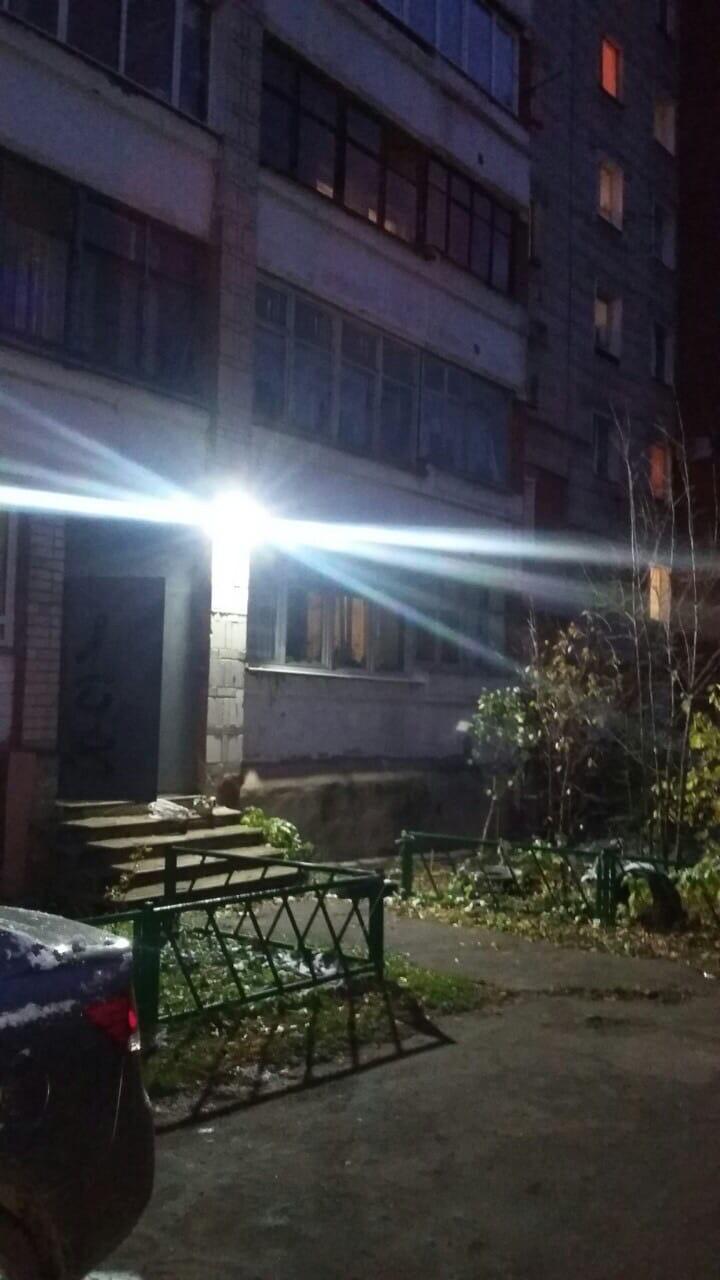 Улица Московская дом 101 установка прожекторов на