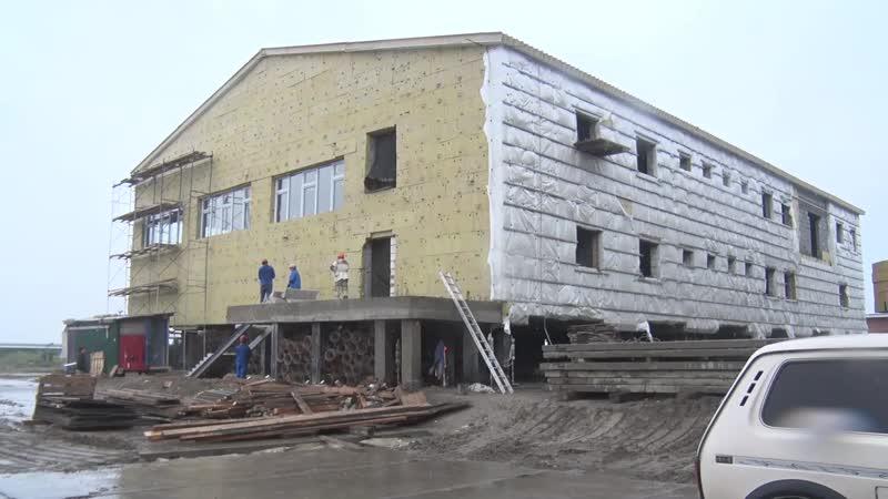 В Яр Сале продолжается возведение нового современного корпуса школы интерната