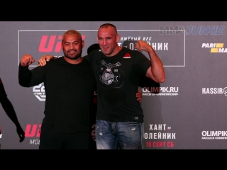 UFC Moscow_ Media day fighter face-offs