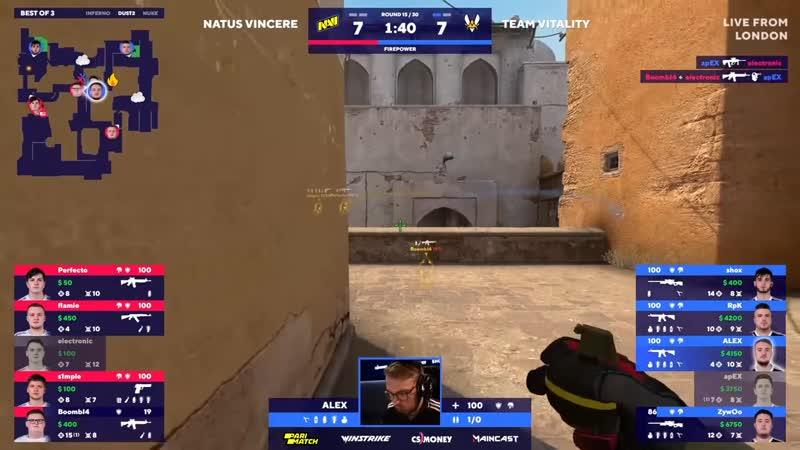 CS GO VOD's Maincast Natus Vincere vs Vitality Map 2 Dust 2 Best of 3 BLAST Premier Spring 2020