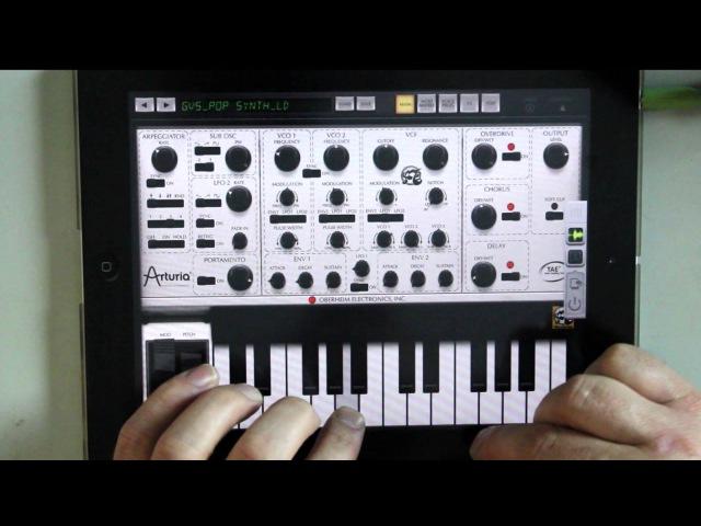 IPad Music App AUFX Space Arturia iSEM
