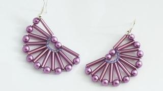 Make Nice Semicircle Beaded Earrings - DIY Style - Guidecentral