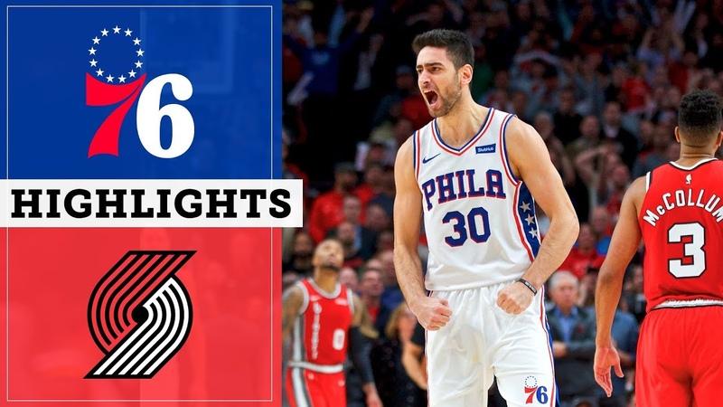 Sixers at Trail Blazers November 2 2019 Highlights NBC Sports Philadelphia