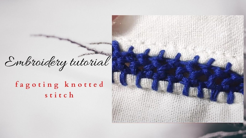 Cheița Fagoting knotted stitch