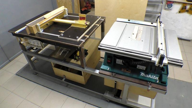 Складной, комбинированный пильно-фрезерный стол / Folding combination table saw and router