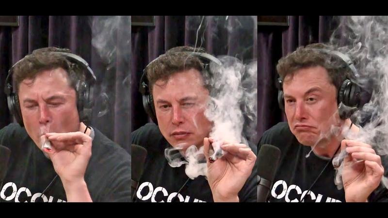 Илон Маск курит марихуану Elon Musk Smokes Weed Joe Rogan Podcast