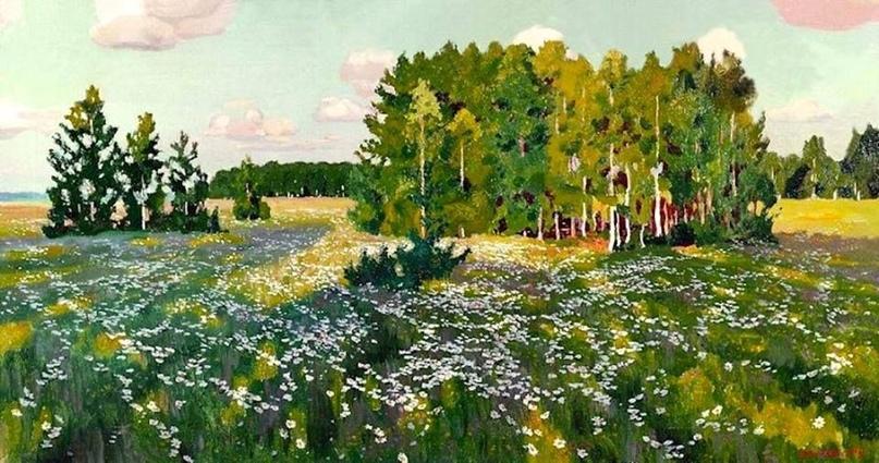 "Аркадий Рылов ""Цветистый луг"", 1916"