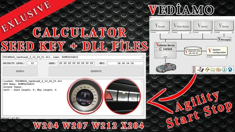 Mercedes Benz SEED KEY Calculator DLL Files разблокировка уровня доступа Как использовать Coding
