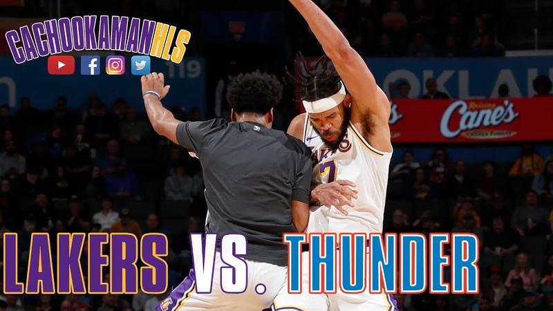 JaVale McGee Statue Of Liberty Dunk Lakers vs Thunder January 11 2020