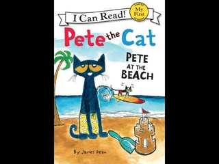 Pete the Cat Pete At the Beach By James Dean | Children's Book Read Aloud @@Lights Down Reading