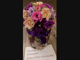 """Розы в"""" шляпной коробке"""""""