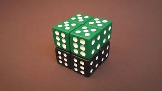 Бесконечный КУБ 2020 из игральных кубиков   Простая схема сборки Антистресс Infinity CUBE