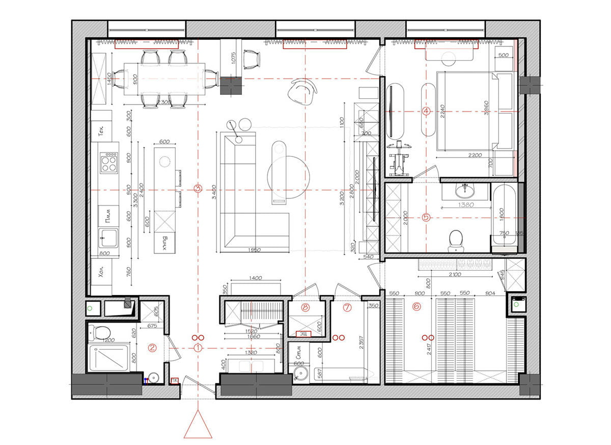 Flat in Moscow, measuring in at 120 square metres