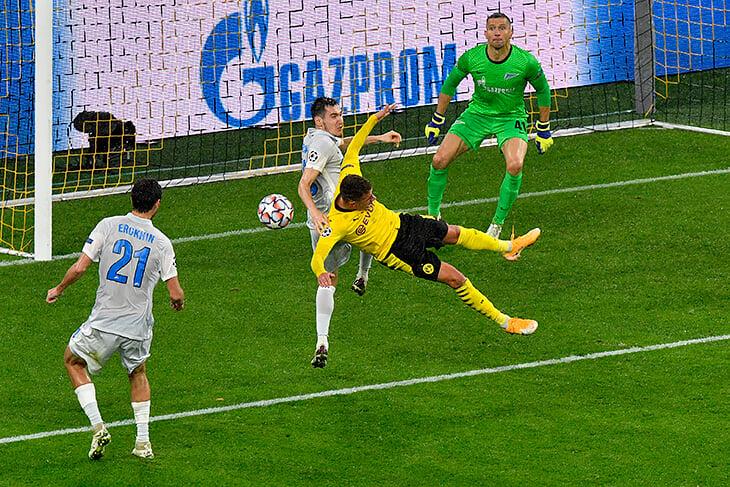 Боруссия - Зенит, 2:0. Фол Караваева
