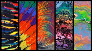Rainbow Pours 5 Ways - Five Different Fluid Acrylic Pouring Techniques in 20 Minutes