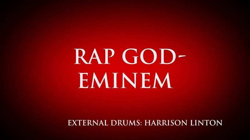 Harrison Eminem Rap God Drum Cover