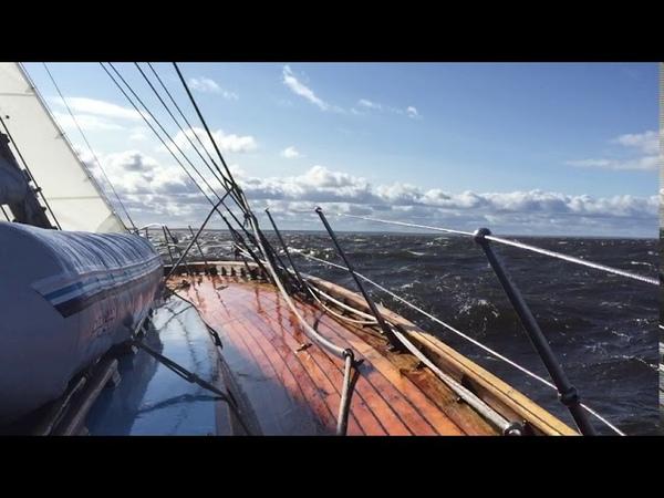 Яхта Мальва регата кубок Балтийца на финишной