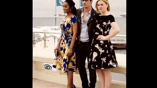 Apr 5, 2016 Roots Premiere in Cannes Jonathan Rhys Meyers ,Avika Noni Rose and Anna Paquin