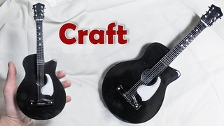 Одна из лучших моих поделок-гитара из картона и шпаклевки. Для тех, кто еще не видел