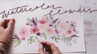 Loose Watercolor Flowers | Practice for Beginners