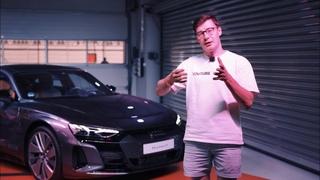 СУПЕРЭЛЕКТРО ОТ AUDI или дешевый Порше? Первый взгляд на Audi RS e-tron GT 2021
