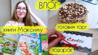 ВЛОГ Леши и Алины: готовлю торт на 14 февраля, съездили в Киров за покупками