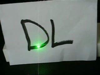 Мощная Зелёная лазерная указка