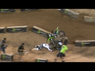 Monster Energy Cup: Villopoto Crashes Hard in Race 2 - 2013