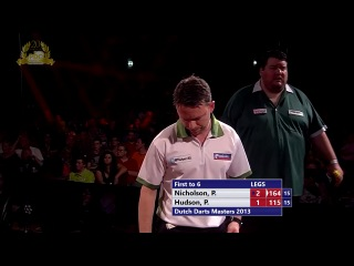 Paul Nicholson vs Peter Hudson (Dutch Darts Masters 2013 / First Round)