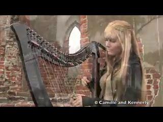 Американские сестры-близнецы игрют на арфах!!!  The Cranberries - Zombie, Electric Harp Duet - Camille and Kennerly, Harp