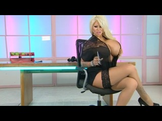 Candy Charms shows off her new boobs in the RLC Office