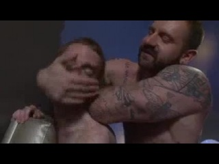 Burly daddy sucked off by a hot ginger