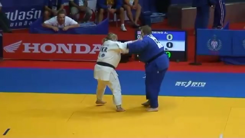Fleming gbr vs iaromka ukr 78kg jnr wc 08 SF