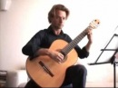 Bach on classical guitar Sarabande BWV 1002