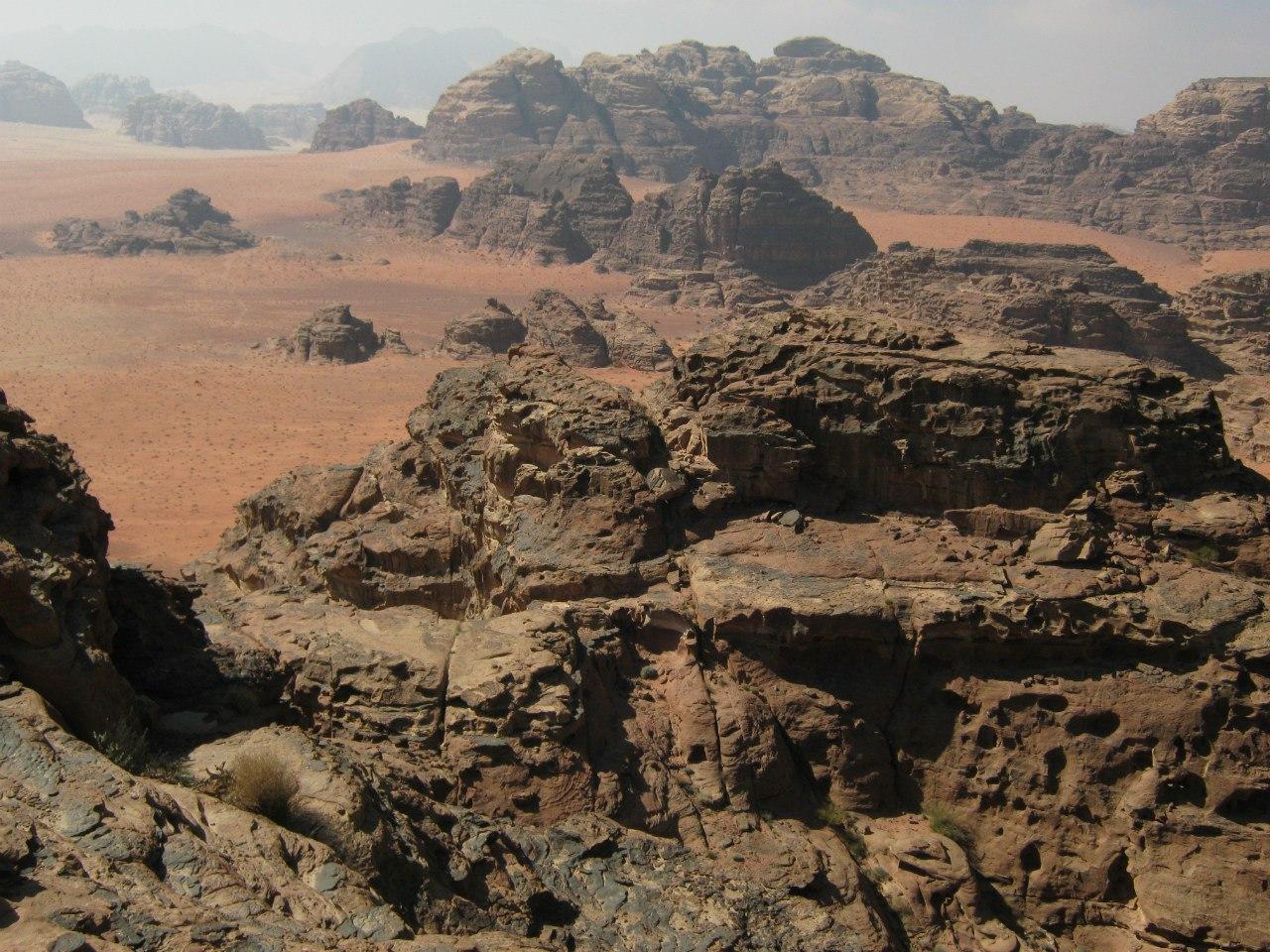 Вади Рам на юге Иордании