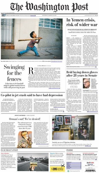 The Washington Post 28 March 2015
