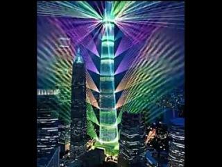 Shanghai Tower lights show上海中心新年灯光秀——元旦被取消的上海中心灯光秀是这样的