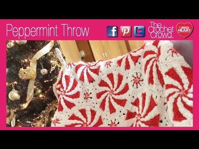 Crochet Peppermint Throw