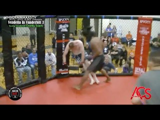 """Fighter Gets Knocked Out and Sticks to the Cage in """"Viewer Submissions"""" on """"Inside MMA"""" fighter gets knocked"""