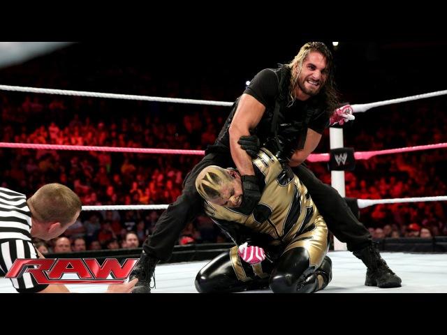 [My1] Cody Rhodes Goldust vs. Seth Rollins Roman Reigns - WWE Tag Team Title Match: Raw, Oct. 14, 2013