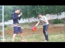 Александров Владимир тренировка с резиновыми петлями R4R russian MMA fighter outdoor training