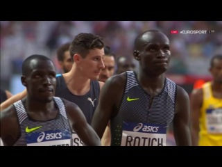 Alfred Kipketer Wins Men's 800m  IAAF Diamond League Paris 2016