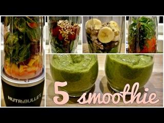 5 ЗЕЛЁНЫХ СМУЗИ | NUTRIBULLET | полезные смузи | green healthy smoothie | FOOD BOOK