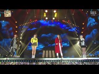  Выступление  2NE1 - MISSING YOU +DO YOU LOVE ME @SBS Gayo Daejun.