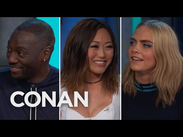 Adewale Akinnuoye Agbaje Got His Ass Kicked By The Suicide Squad Ladies CONAN on TBS