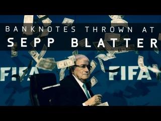 Simon Brodkin throws money at Sepp Blatter! - BREAKING