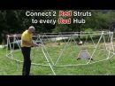 How to Build a Geodesic Dome DIY - 24' diameter 3v 5/8 Geodesic Dome