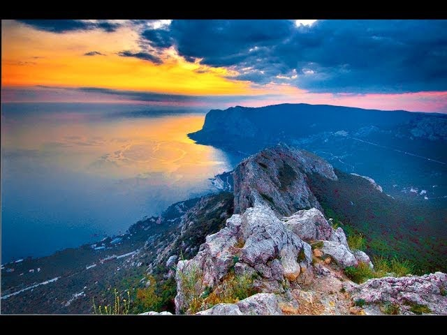 Гора Ильяс Кая над бухтой Ласпи и мысом Сарыч